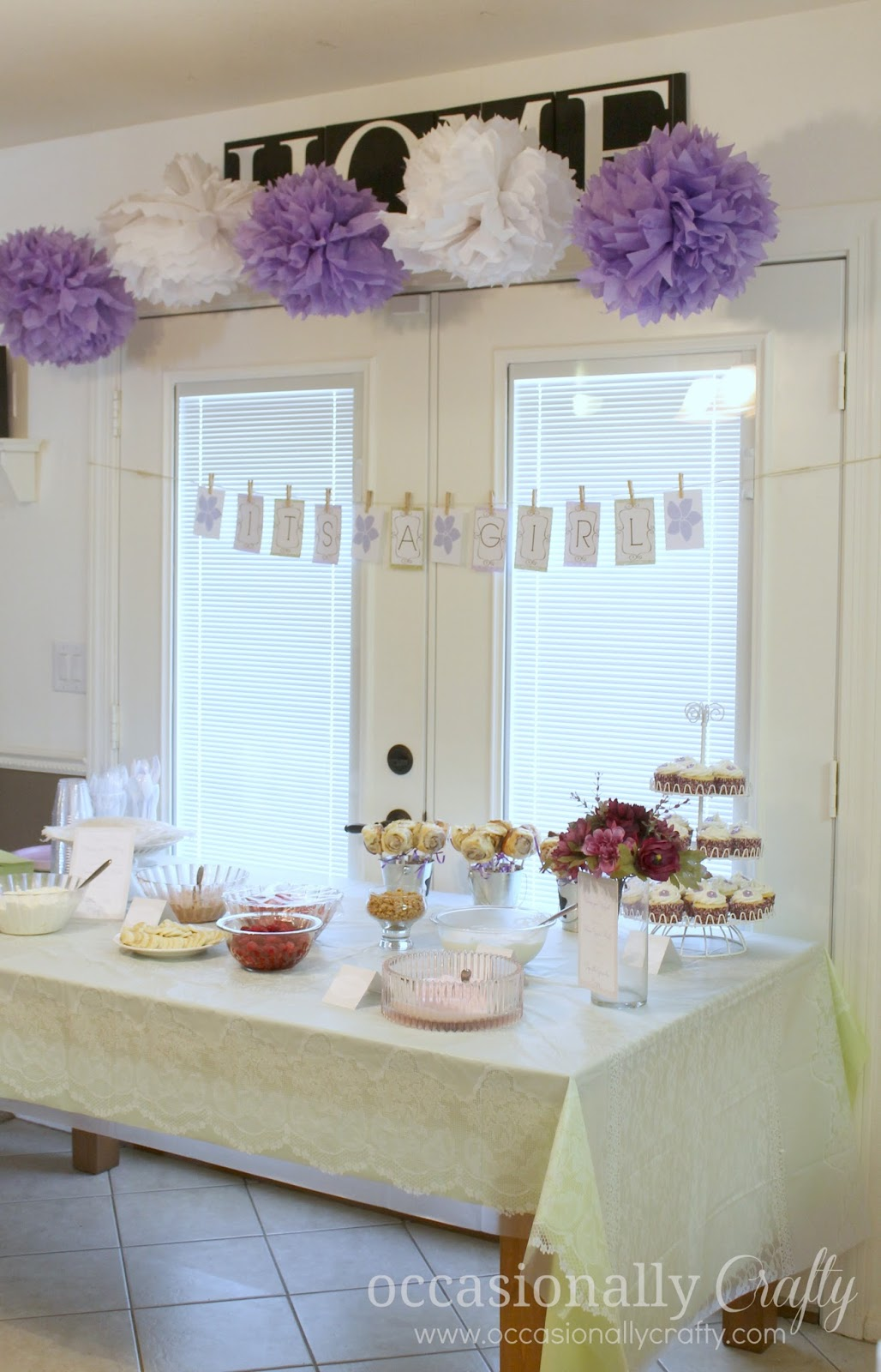 Baby Shower Purple And Green Occasionally Crafty Baby Shower Purple And