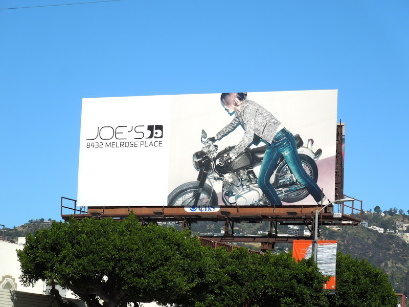 Joe's Jeans motorbike billboard