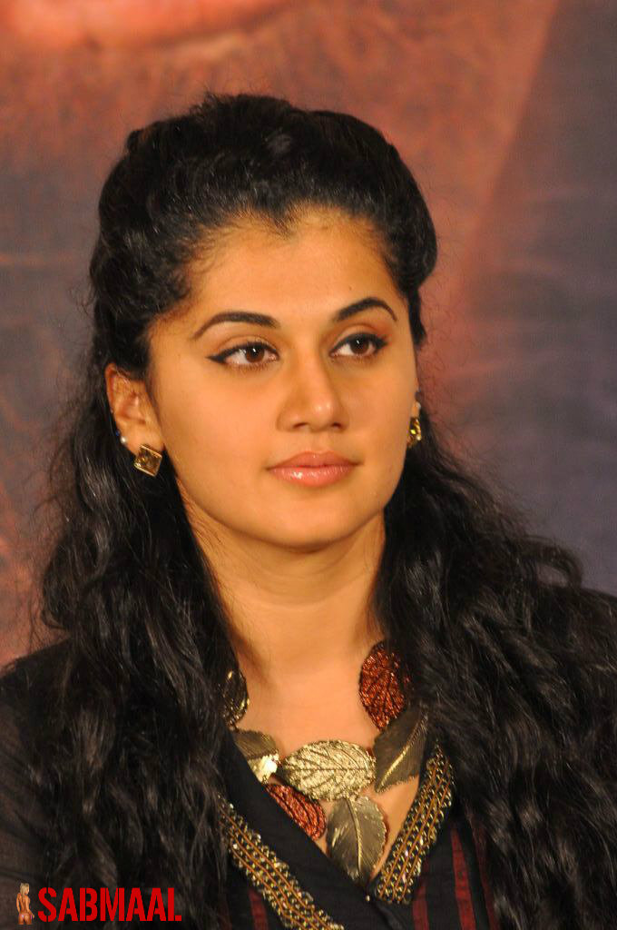 Taapsee Pannu Hot And Sexy Black Dress