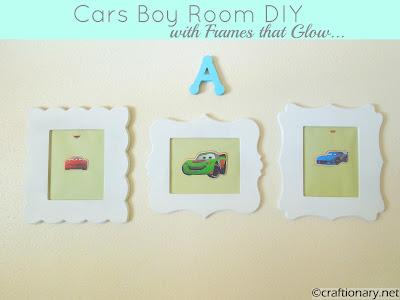 boys cars wall art