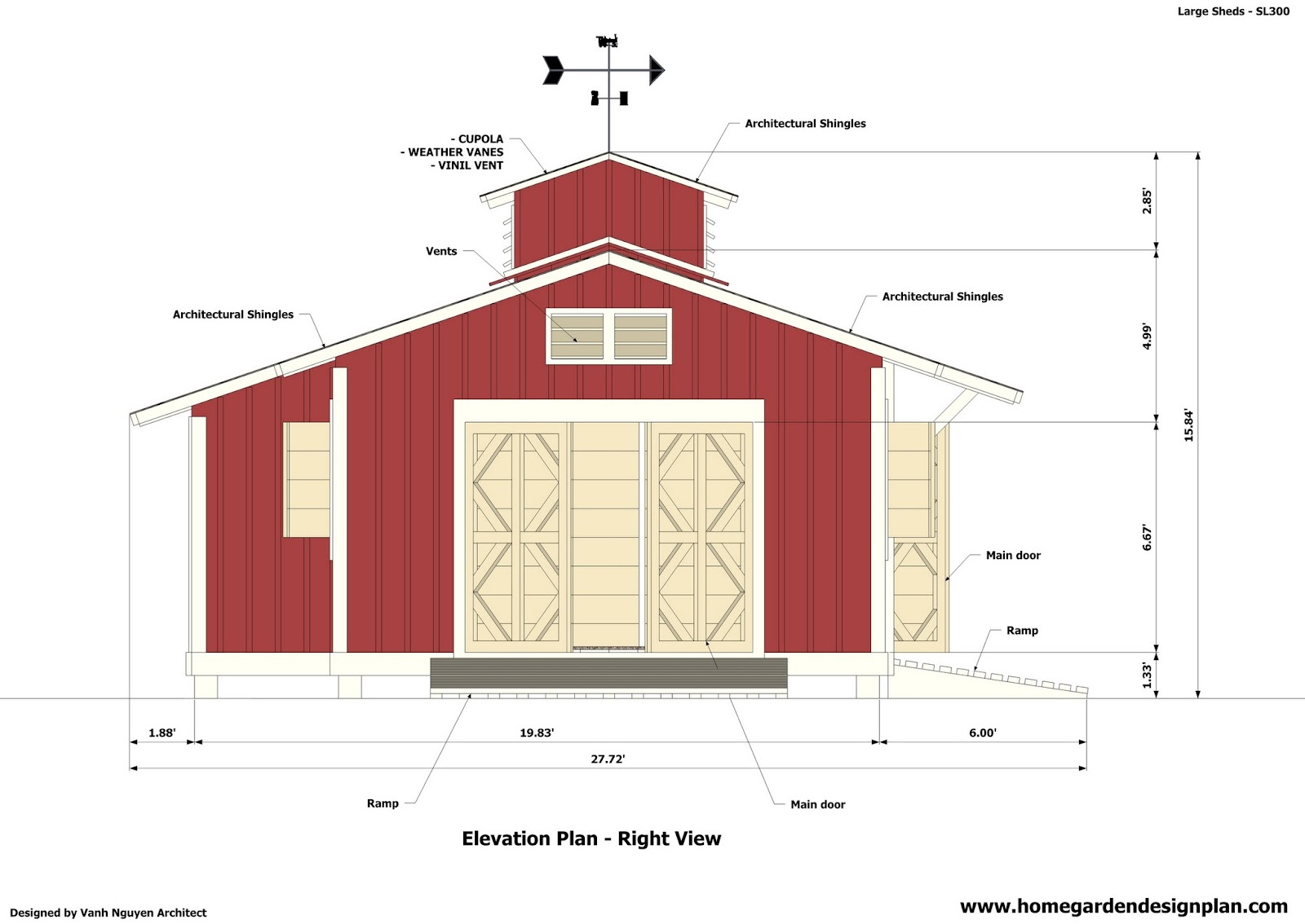 Home garden plans sl300 storage sheds plans garden for Garden shed plans