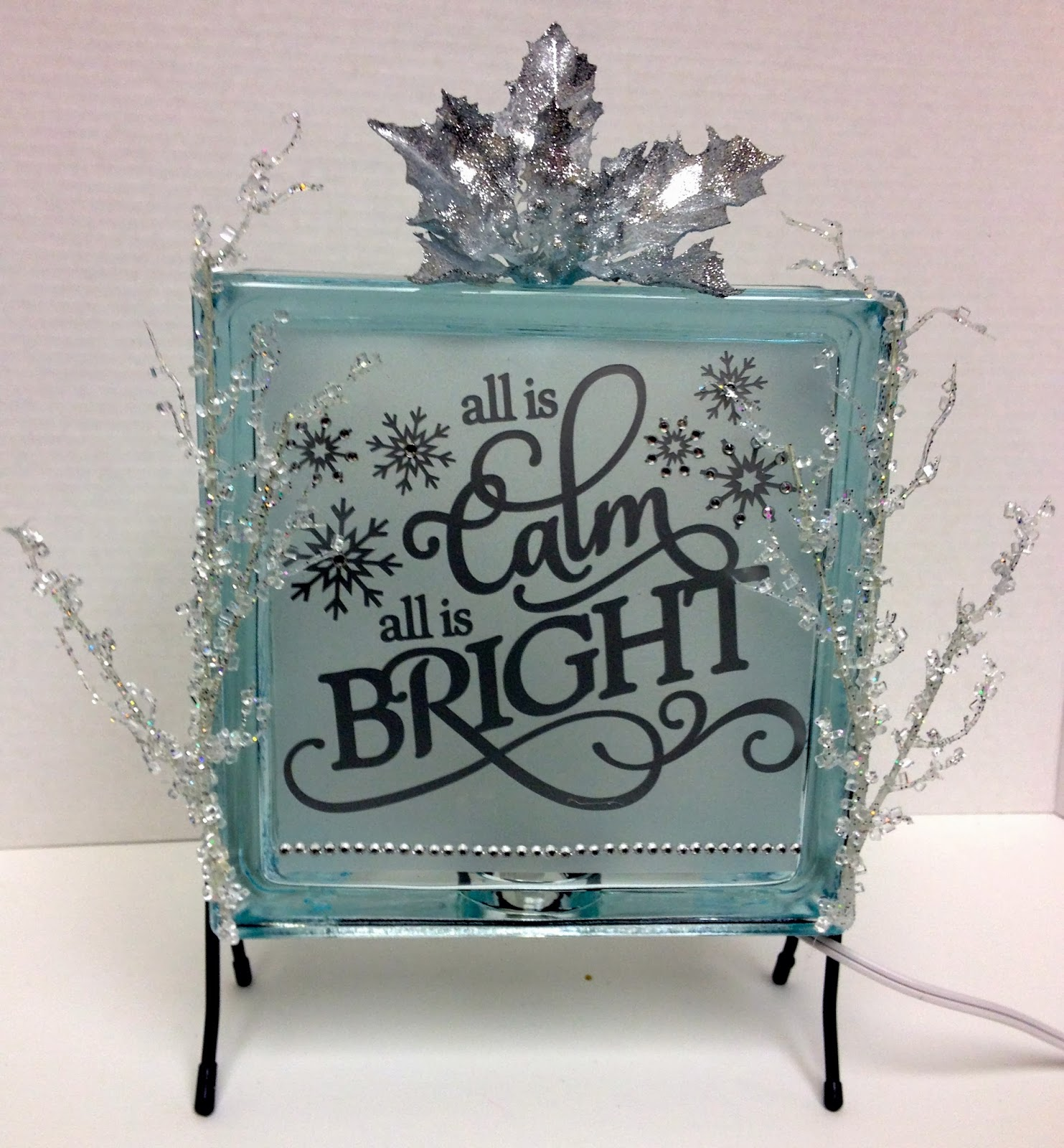 Paper craft studios new glass block ideas for Glass block crafts pictures