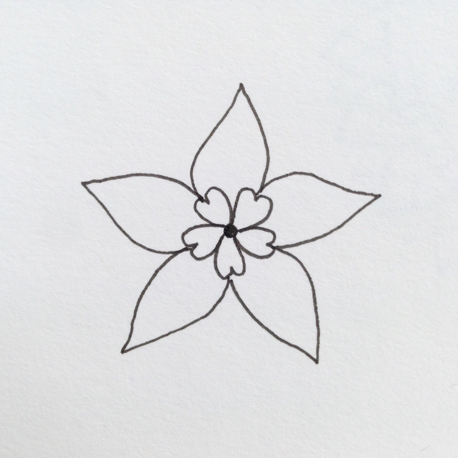 how to draw petals on a flower