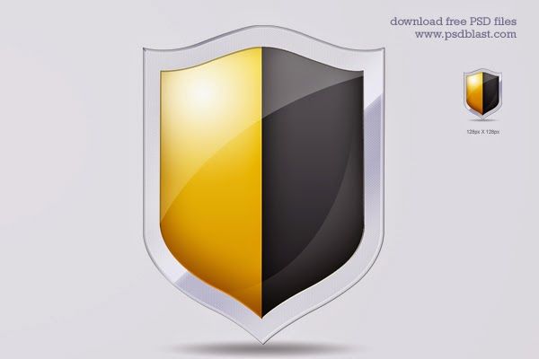 Shield Securtiy Icon PSD