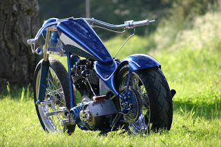 Harley Davidson 1956 blue Custom Edition Wallpapers Inspirations