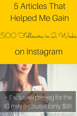 Grow your Instagram followers by branding your Instagram account.  Five of the best articles around on building a great Instagram presence by Sarah Smirks