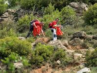 L'equip escombra treien els senyals