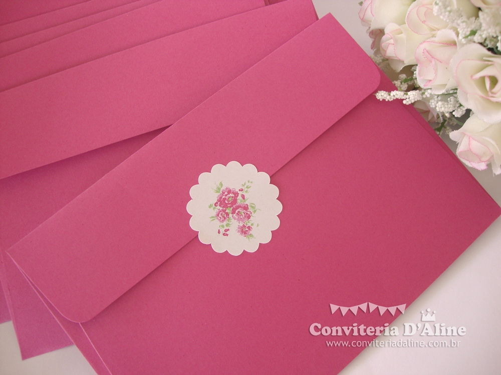 convite 15 nos rosa pink