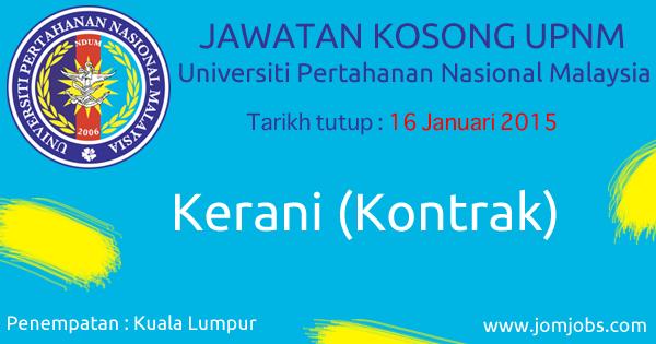 Jawatan Kosong UPNM 2015 Terkini di Kuala Lumpur