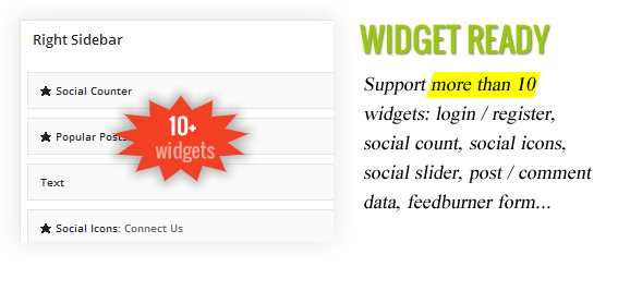 Cool Widget Ready - Lead Press – Flexible Magazine WordPress Theme