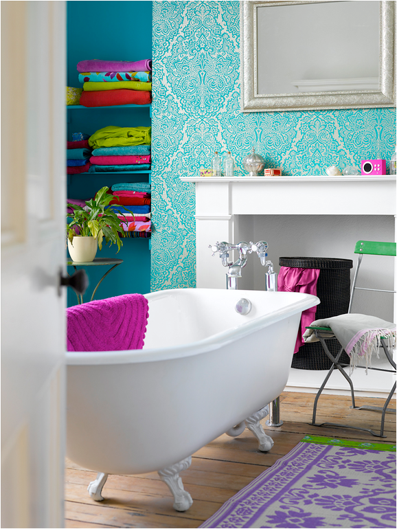Key interiors by shinay teen girls bathroom ideas for Colourful bathroom ideas