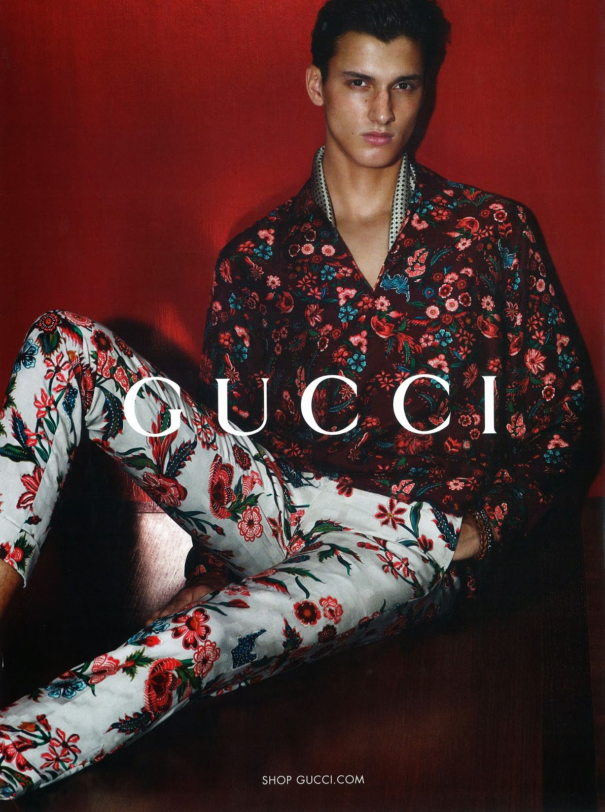 Model Fashion Gucci Men