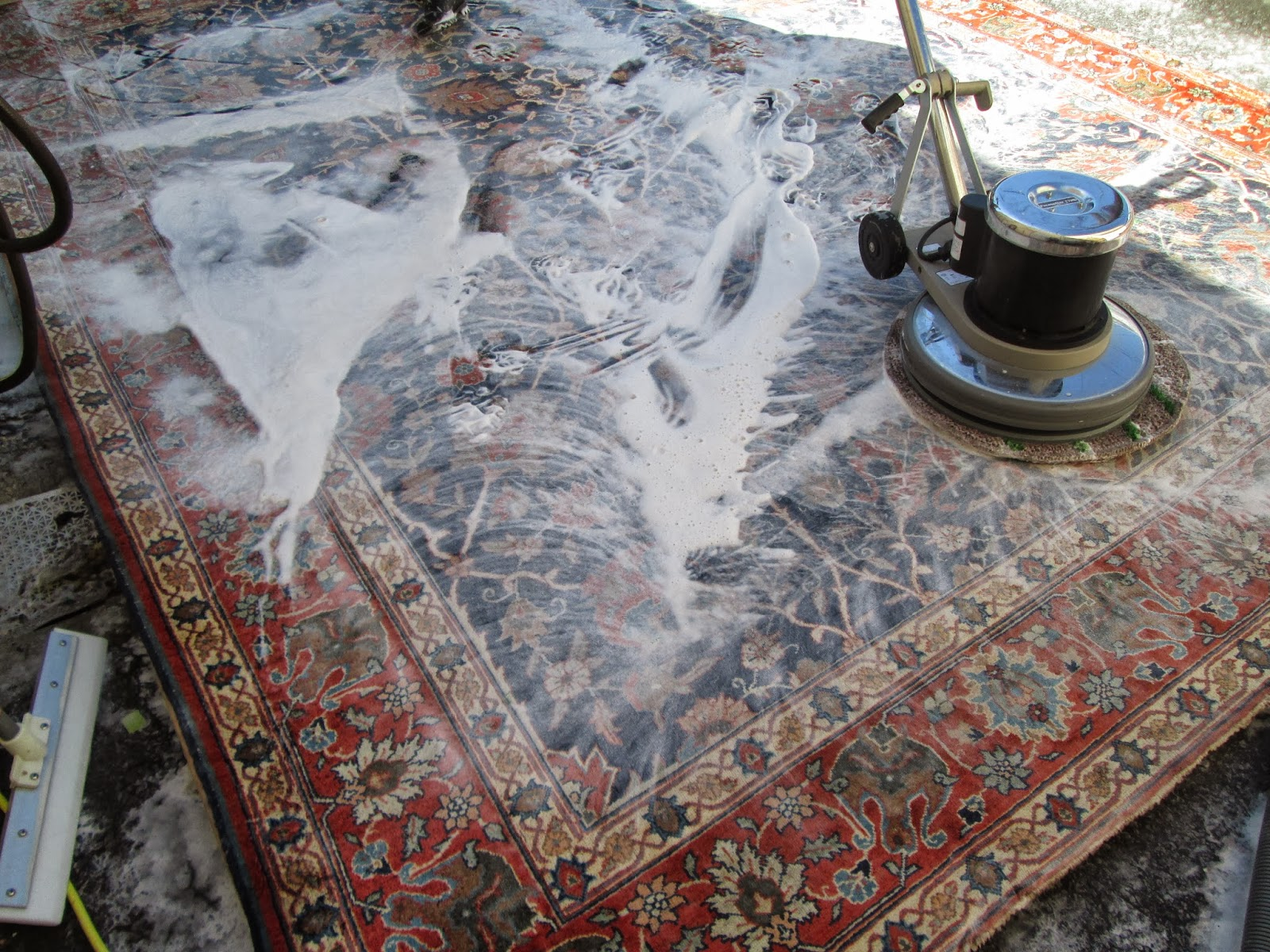 how to clean a wool rug yourself