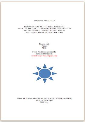 Contoh Proposal PTK tentang Model Pembelajaran Tipe NHT