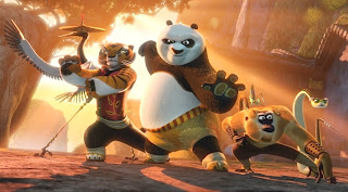 Po in fighting stance in Kung Fu Panda 2