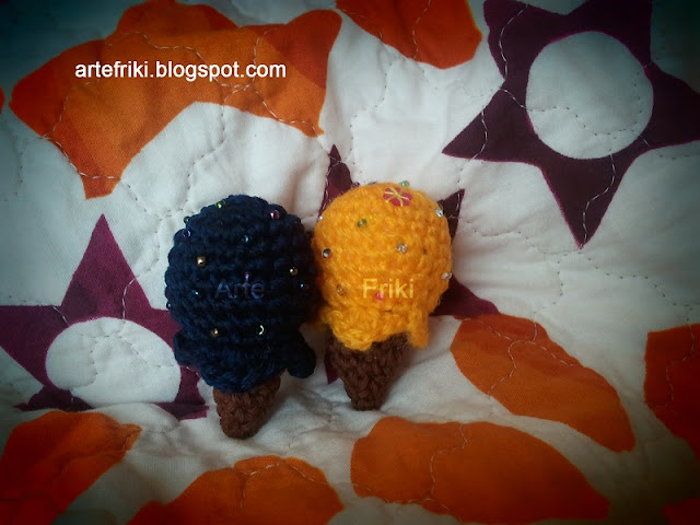 mini helados amigurumi crochet ganchillo ice creams