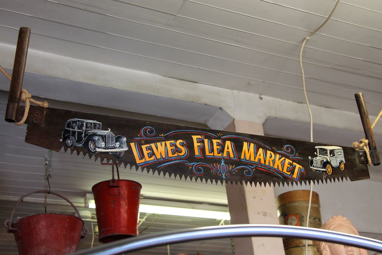 lewes flea market sign