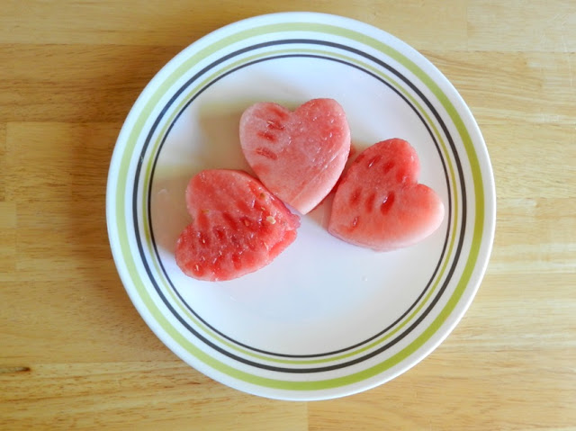 Watermelon Heart Shapes