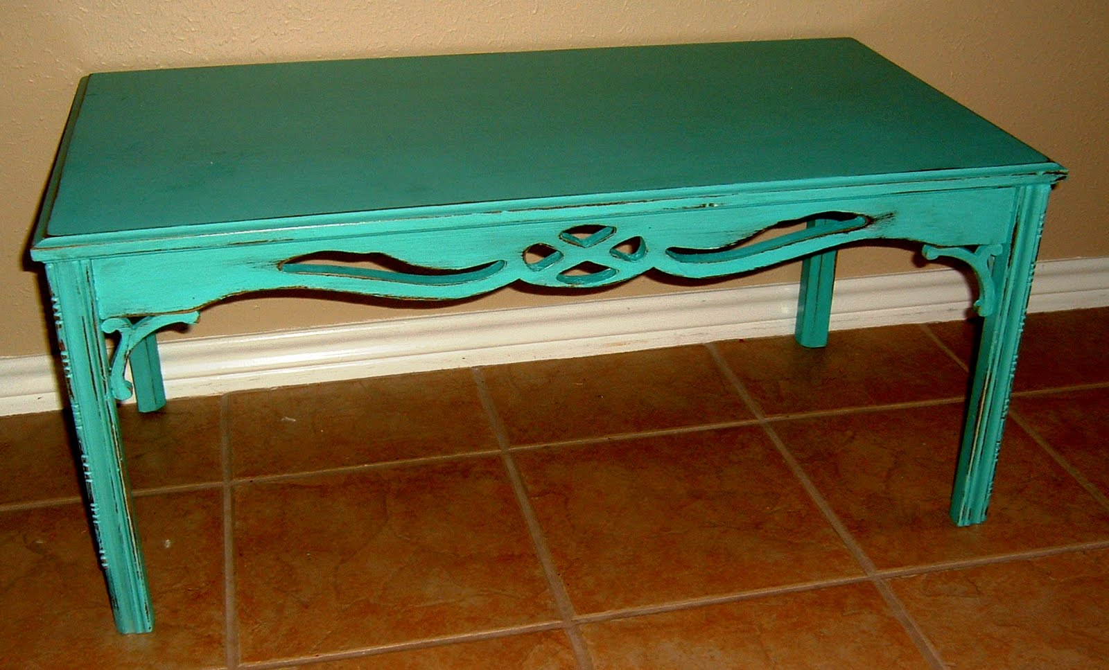 Antique Turquoise Coffee Table Facelift Furniture