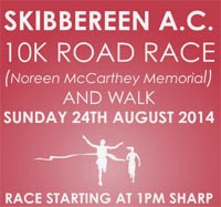 24th Aug...10k race in West Cork