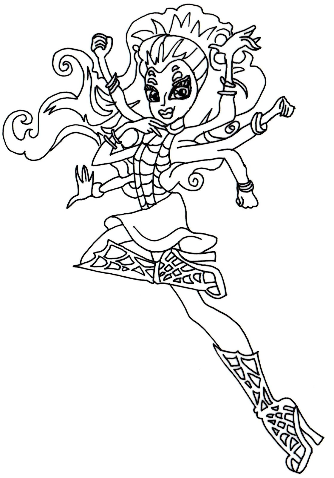 free printable monster high coloring pages december 2013