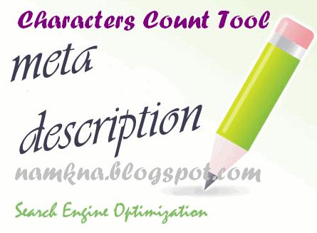 Công cụ đếm tiêu đề và mô tả cho blogspot