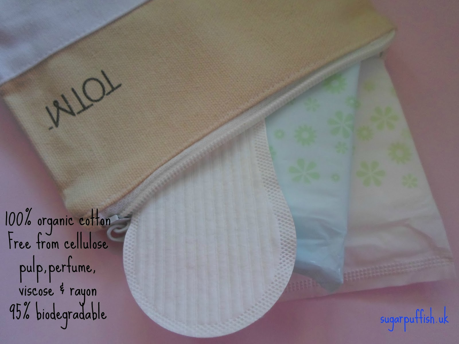 TOTM 100% organic cotton sanitary products