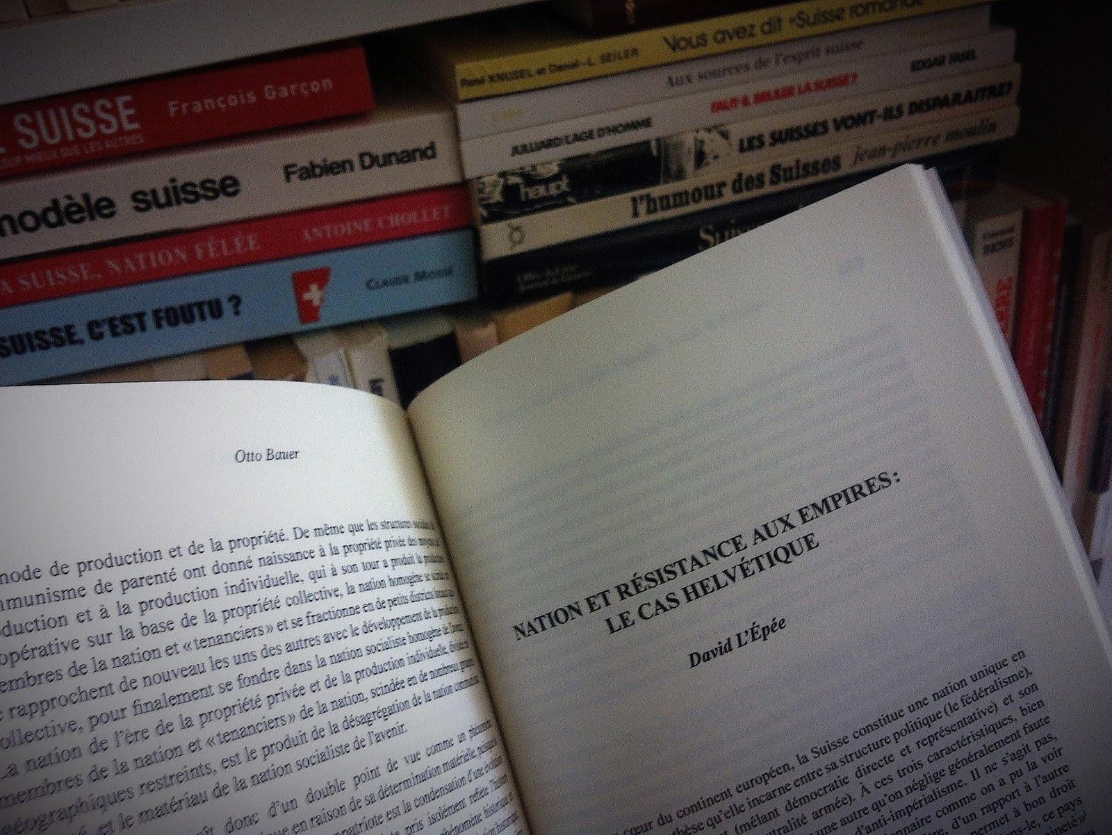 Nation et résistance aux empires : Le cas helvétique, article de David L'Epée