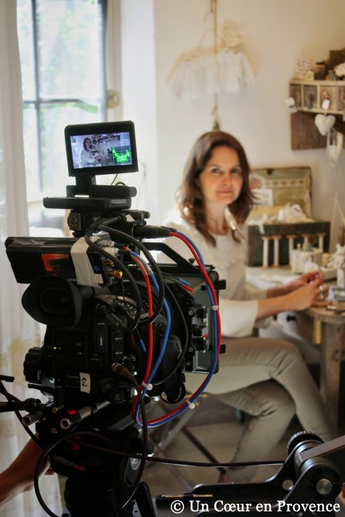 Tournage de l'émission 'Du côté de chez vous' produit par TF1 dans la maison d'hôtes 'Un Cœur très Nature'