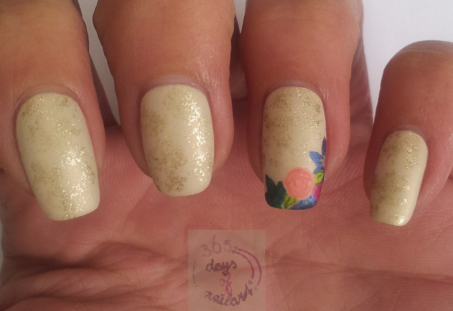 365 Days Of Nail Art Day 256 Fall Look Flowers