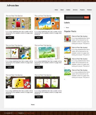 Advancino blog template. download blogger template gallery style