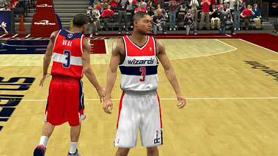 NBA 2K13 Washington Wizards Jersey Mods