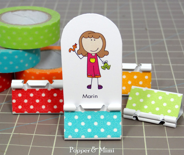 DIY binder clip game piece | popperandmimi.com