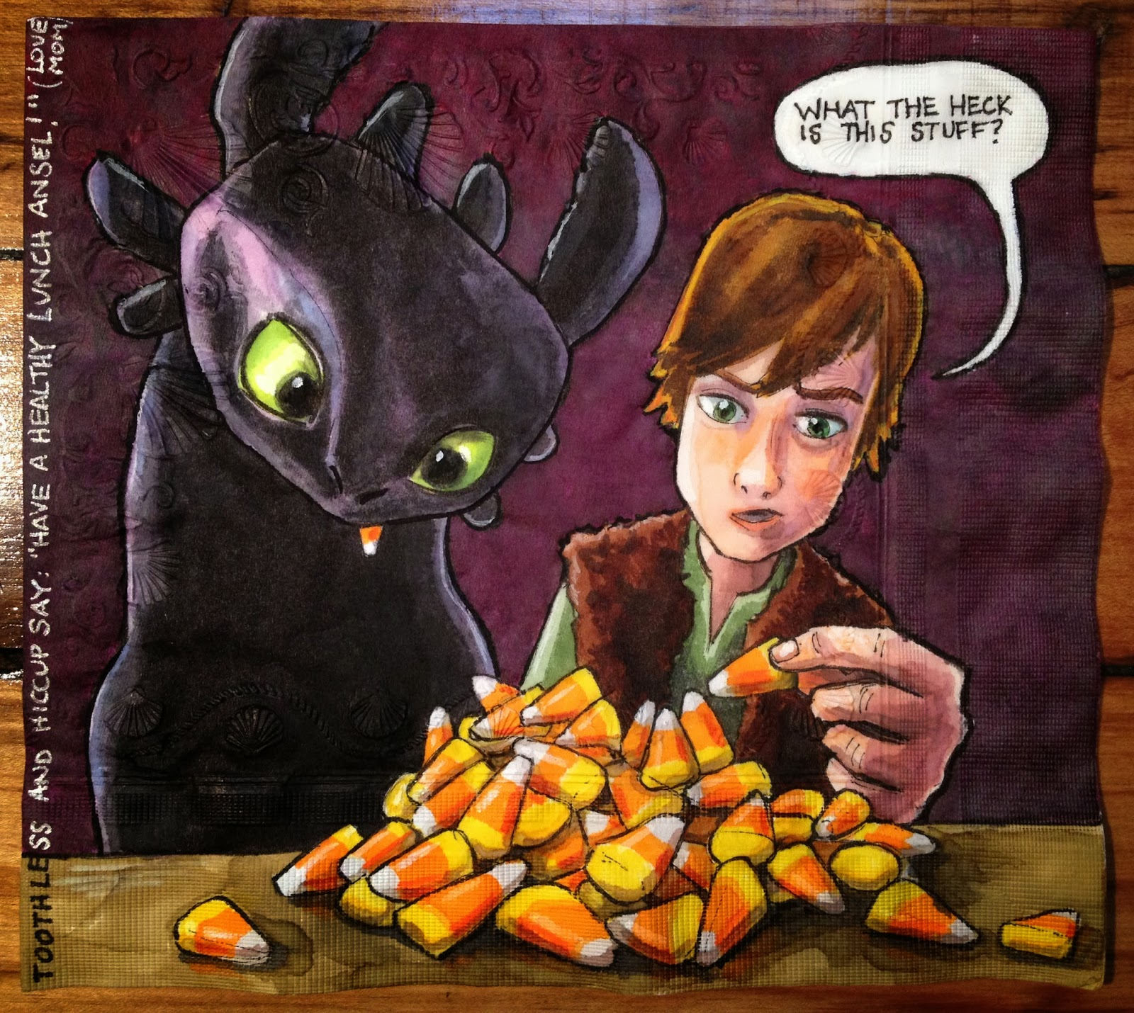 Daily Napkins: Toothless and Hiccup Are Confused By Candy Corn - photo#22