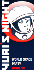 Yuri's Night Logo. A world space party celebrated on 12 April 2011. Yuri's Night 2011.