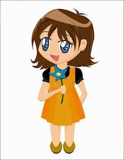 cute smile cartoon girl