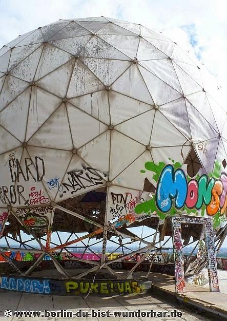 teufelsberg, Abhoerstation, berlin, verlassene, US, militaer, graffiti