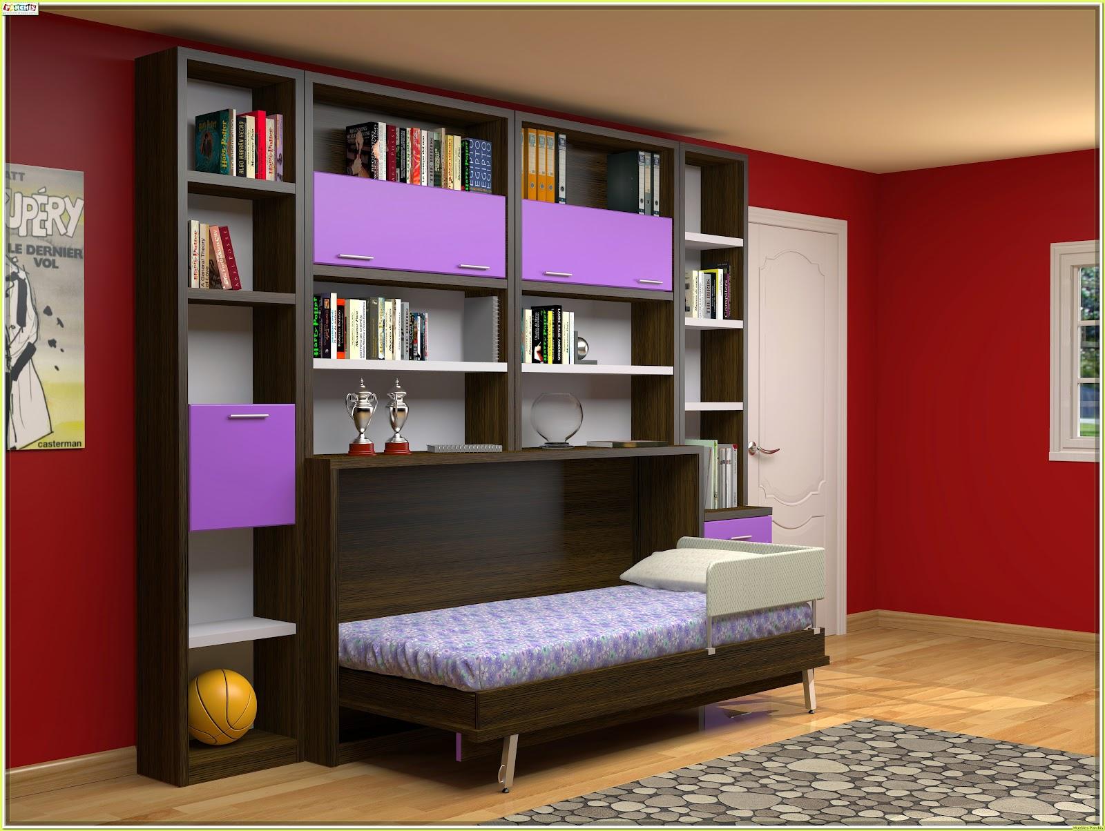Cama mesa abatible camas autoportantes camas abatibles horizontales con armarios camas - Dormitorios juveniles en madrid ...