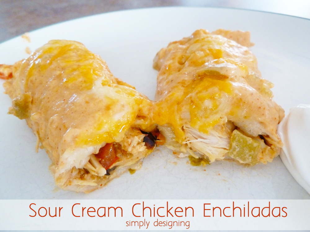 The BEST Sour Cream Chicken Enchiladas (no cream-of-anything soup ...
