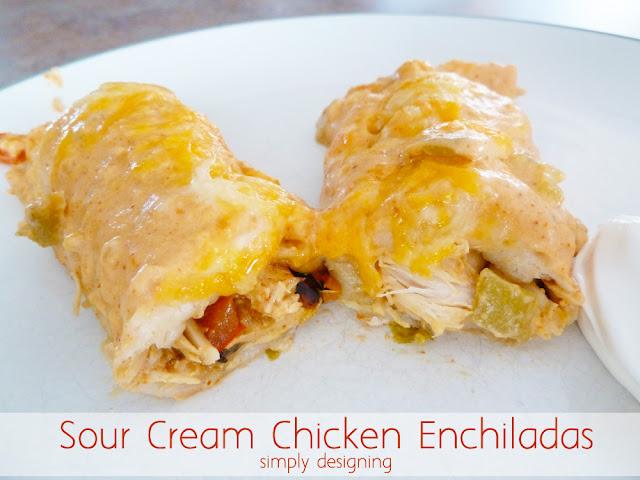 The BEST Sour Cream Chicken Enchiladas (no cream-of-anything soup ...