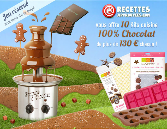 10 kits Cuisine 100% chocolat