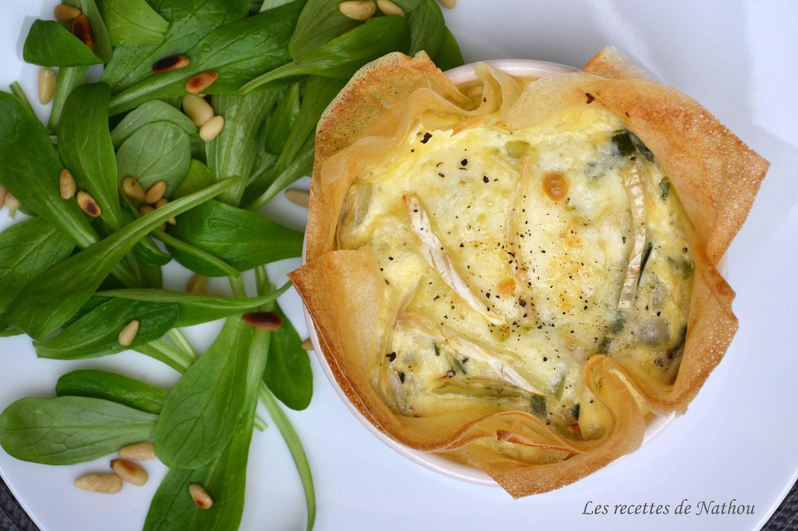 Tartelettes en feuilles de brick aux poireaux et au brie blogs de cuisine - Feuille de cuisine ...
