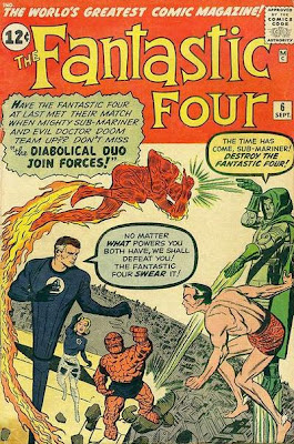 Fantastic Four #6, Dr Doom and Namor Team up