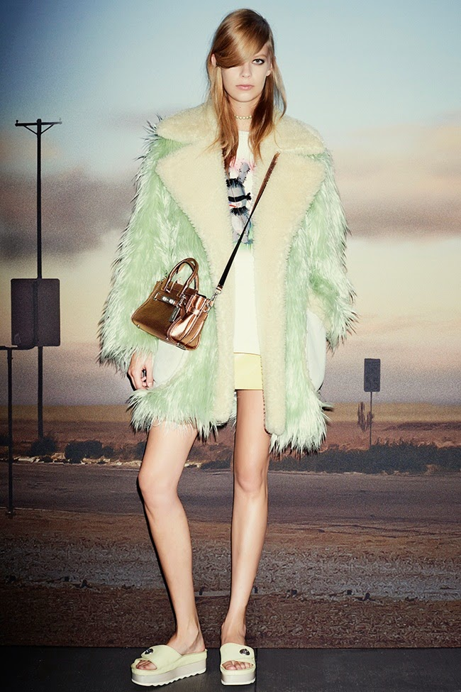 Coach × Gary Baseman 2015 SS Mint Fur Coat