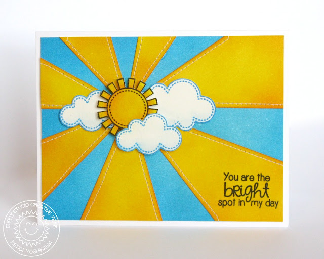 Sunny Studio Stamps Rain or Shine & Sunny Sentiments Sunburst Card