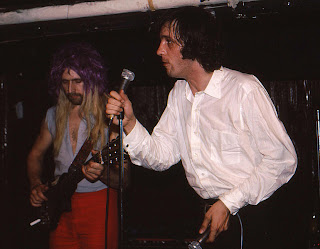 John Otway and Wild Willy Barrett on stage in 1981