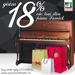 giam gia dan piano moi black friday