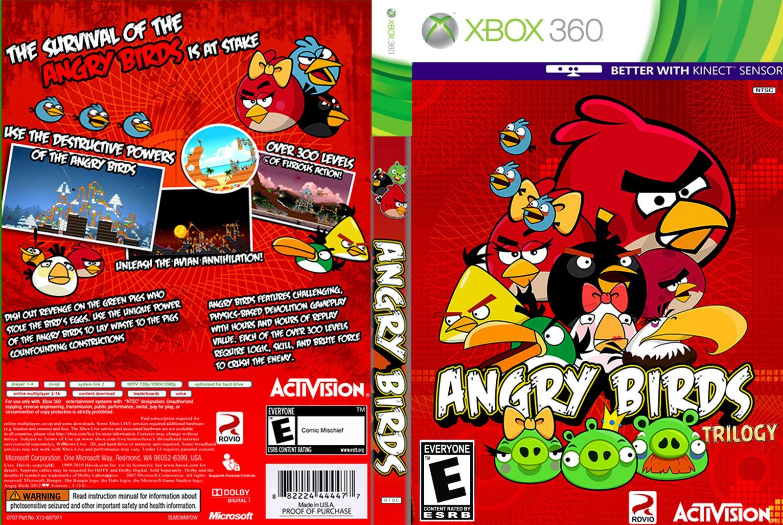 Angry Birds Trilogy Xbox 360 Ultra Capas