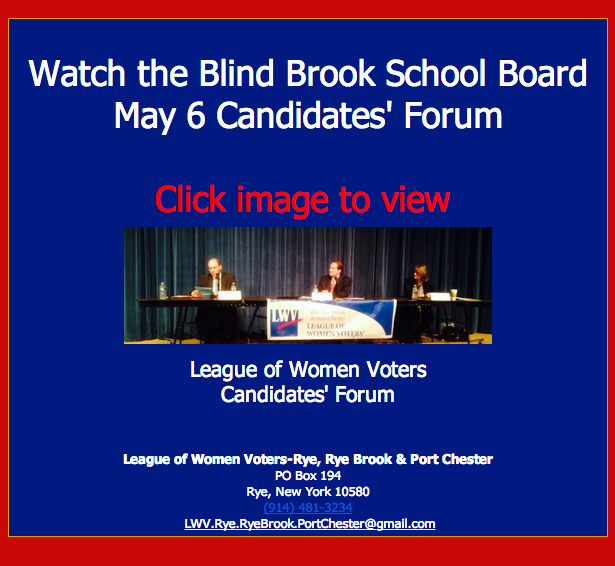 BLIND BROOK SCHOOL BOARD FORUM