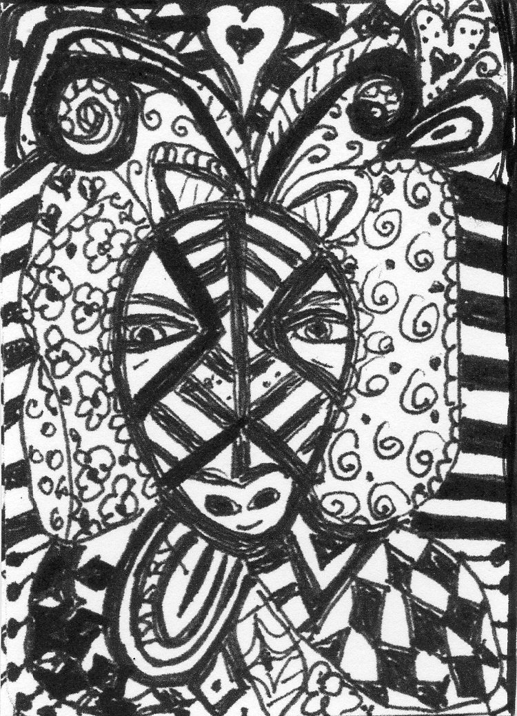 Zentangle face this is a zentangle i made